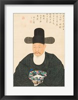 Framed Yi Jaegwan Portrait of Scholar