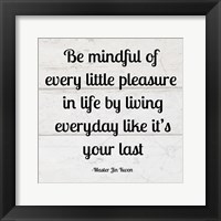 Framed Be Mindful square