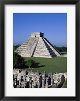 Framed Ancient structures, El Castillo, Chichen Itza (Mayan), Mexico