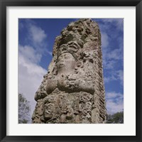 Framed Stelae Copan Mayan Honduras