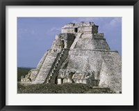 Framed Mayan Pyramid of the Magician Uxmal