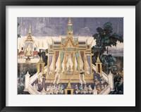 Framed Wall mural depicting the Ramayana story, Royal Pavilion