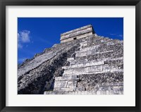 Framed El Castillo Chichen Itza up close