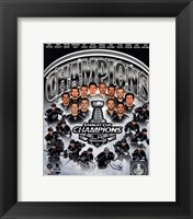 Framed Los Angeles Kings 2014 Stanley Cup Champions Composite