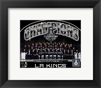Framed Los Angeles Kings 2014 NHL Stanley Cup Champions Team Sit Down Photo