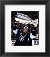 Framed Anze Kopitar with the Stanley Cup Game 5 of the 2014 Stanley Cup Finals