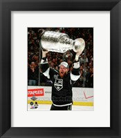 Framed Jeff Carter with the Stanley Cup Game 5 of the 2014 Stanley Cup Finals