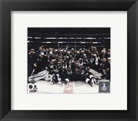 Framed Los Angeles Kings Celebration on ice Game 5 of the 2014 Stanley Cup Finals Action