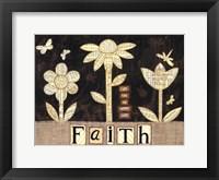 Framed Faith Flowers
