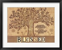 Framed Blessed Tree of Life
