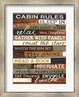 Framed Cabin Rules