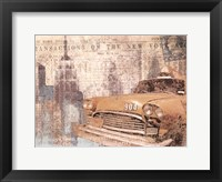 Framed Manhattan Cab