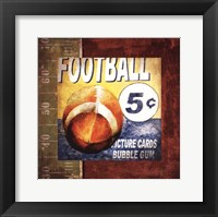 Framed Football Card Time