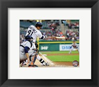 Framed Victor Martinez 2014 on the field