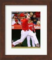 Framed David Freese baseball 2014
