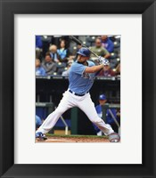 Framed Eric Hosmer Baseball Hitting Pose