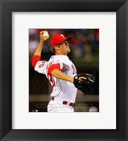 Framed Cole Hamels Baseball Pitching