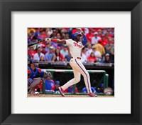Framed Domonic Brown 2014 batting Action