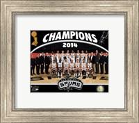 Framed San Antonio Spurs 2014 NBA Champions Team Photo