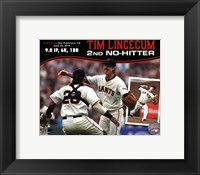 Framed Tim Lincecum throws 2nd No-Hitter against the San Diego Padres on June 25, 2014
