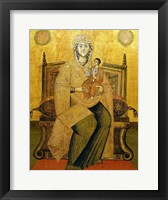 Framed God's Mother On The Throne