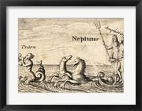 Framed Greek Gods Neptune