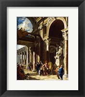 Framed Alexander the Great Cutting the Gordian Knot