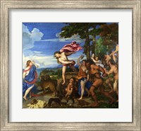 Framed Titian Bacchus and Ariadne