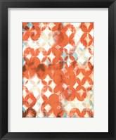 Overlapping Teal & Orange II Framed Print