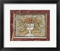 Framed Antique White Vase II