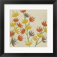 Framed Retro Blossoms III