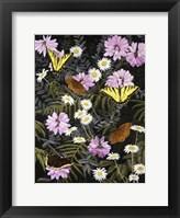 Framed Tapestry of Butterflies