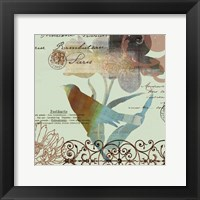 Fanciful Bird II Framed Print