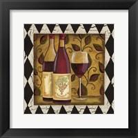 Framed Harlequin & Wine I