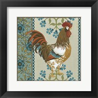 Cottage Rooster I Framed Print