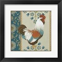 Cottage Rooster II Framed Print