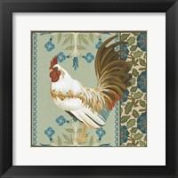 Framed Cottage Rooster III