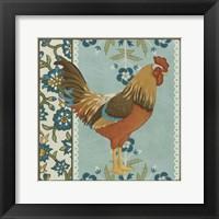 Cottage Rooster IV Framed Print