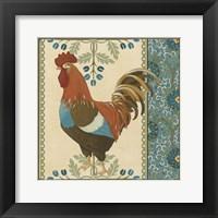 Cottage Rooster V Framed Print