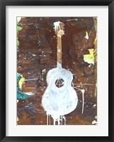 Framed Yellow Guitar