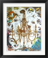 Framed Rust Chandelier