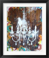 Framed White Chandelier