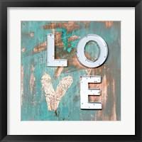 Framed Love Patina I