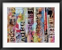 Metro Mix 21 II Framed Print