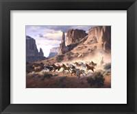 Framed Sandstone & Stolen Horses