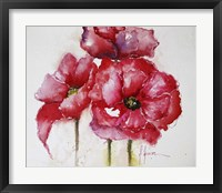 Framed Fuchsia Poppies I