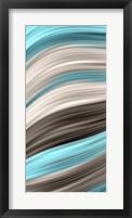 Aqua Sweep I Framed Print