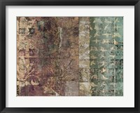 Lotus Patina II Framed Print