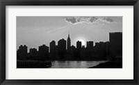 Panorama of NYC I Framed Print
