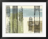 Stamped Feathers II Framed Print